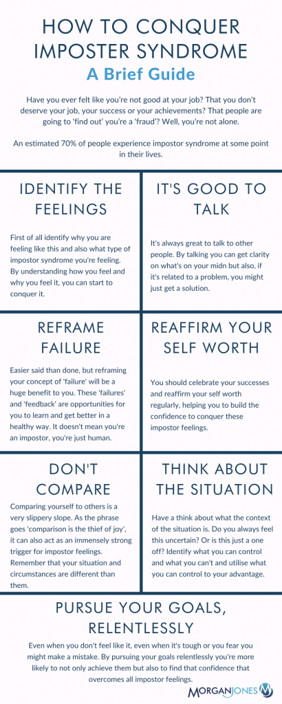 How To Conquer Impostor Syndrome Infographic