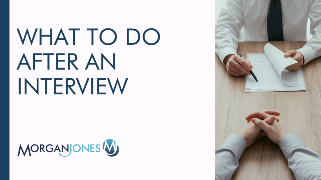 What To Do After An Interview Title Image