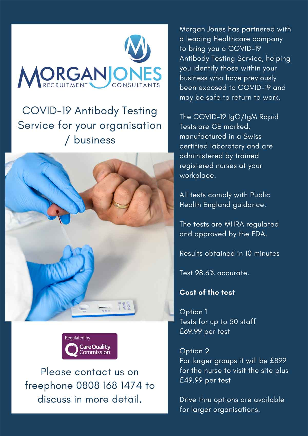 Morgan Jones is now COVID-19 Antibody Testing